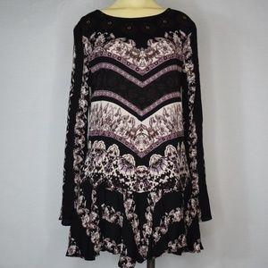 Free People | Boho Purple Long Sleeved Dress SP